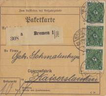 DEUTSCHES REICH: 1922: Gelaufen ##Paketkarte##: ROKEN,FUMER,SMOKE, SIGAAR,CIGARE,CIGAR,TABAK,TABAC,TOBACCO, - Tabac