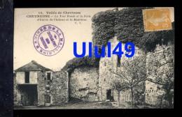 """78 Yvelynes - CHEVREUSE - """" La Tour Ronde Et La Porte D'Entree Du Château De La Madeleine """" - Chevreuse"""
