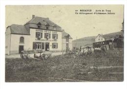 BODANGE Arr�t du Tram - d�chargement �cr�meuse M�lotte ( Remicourt ) - Cachet postal Martelange 1922