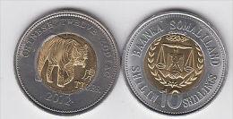 SOMALILAND 10 Shillings 2012 Bimetal, Chinese Zodiac, Tiger - Monete
