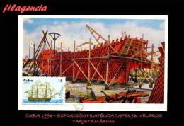 TRASTERO. CUBA. ENTEROS POSTALES. TARJETAS MÁXIMAS 1996. BARCOS VELEROS - Maximumkarten