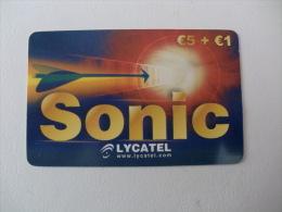 Phonecard/ Tel�carte/ Cart�o Telefonico Sonic da Lycatel 5 Euros + 1 Euro