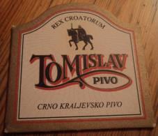 BEER MATS - TOMISLAV BEER (black Royal Beer), Croatia - Sous-bocks