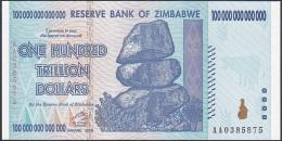 Zimbabwe, 100 Trillion Dollars, P.91 (2000) UNC - Zimbabwe