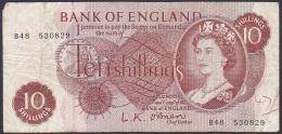 UK Bank Of England, 10 Shillings, P.373a (O'Brien) VG(Pen Mark On Front) - 1952-… : Elizabeth II