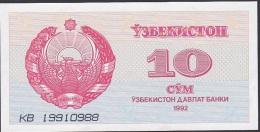 Uzbekistan, 10 Sum, P.64 (1992) UNC - Uzbekistan