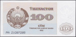 Uzbekistan, 100 Sum, P.67 (1992) UNC - Uzbekistan