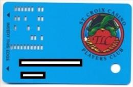 St Croix Casino, Turtle Lake, WI, U.S.A., older used slot card,  stcroix-2