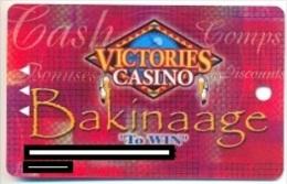 Victories Casino.  Petoskey, MI, U.S.A., used slot card,  victories-1