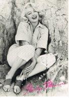 Marilyn MONROE  Cp Format 17 X 12 Photo Noir Et Blanc Editions ANABA ENGLAND 1987 Scans Recto Verso - Artisti