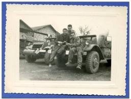 Photo - Véhicule Half Track En Algérie ( Gendarme ??) - AFN - Militaria - Véhicules