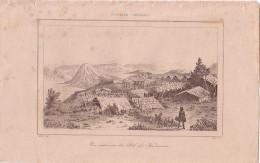 NOUVELLE-ZELANDE - VUE INTERIEURE DU PAH DE KAOUVERA - GRAVURE VOYAGE RIENZI 1847 - FORMAT DOCUMENT 13.5x22cm. - Documentos Antiguos