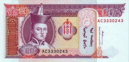 MONGOLIA 20 TUGRIK BANKNOTE 2000-2011 PICK NO.63 UNCIRCULATED UNC - Mongolia