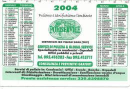 CAL644 - CALENDARIETTO 2004 - POLISERVICE - Calendari