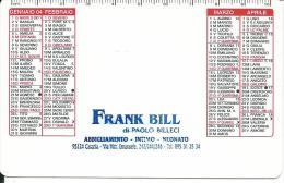 CAL649 - CALENDARIETTO 2004 - FRANK BILL ABBIGLIAMENTO - CATANIA - Calendari