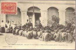 CONGO FRANÇAIS - Réception Du Chef Makoko à L'Hôtel Du Commissaire Générale à Brazaville, 1895 - Congo Français - Autres