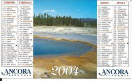 CAL654 - CALENDARIETTO 2004 - LIBRERIA ANCORA - TRENTO - Calendari
