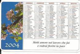 CAL655 - CALENDARIETTO 2004 - LIBRERIA PAOLINE - LECCE - Calendari