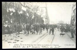 Cpa Algérie Alger  Revue Du 18 Février 1919 Défilé Des Cyclistes Du 9è Zouaves   JUI6 - Alger