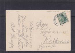 Allemagne - Empire -carte Postale De 1914 - Oblitération Kettenis - Belgique - Cantons De L'Est - Duitsland