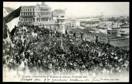 Cpa Algérie Alger  L´ Arrivée Du 9è Zouaves De Marche Le 17 Février 1919   JUI6 - Algiers