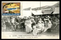 Cpa Algérie Alger  Foire Exposition Avril Mai 1921 Souks Kabyles La Danse Des Almées -- Carte Maximum     JUI6 - Algiers