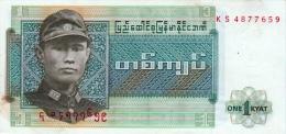 BURMA 1 KYAT BANKNOTE 1972 PICK NO.56 UNCIRCULATED UNC - Myanmar