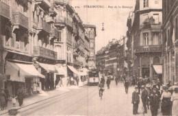 67 STRASBOURG RUE DE LA MESANGE ANIMEE TRAMWAY CIRCULEE 1924 - Strasbourg