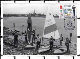 """1983 CM Carte Maximum De GUERNSEY """" SORTIE AU LAC """". Voir Le Scan + Prix Dégressif. - Childhood & Youth"""