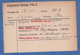 Fiche Ancienne - STALAG VII A - Prisonnier Pierre SENAC De Libaros ( Hautes Pyrénées ) - 24e R.A.D Artillerie - WW2 Pow - 1939-45
