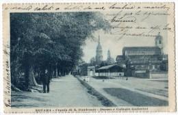 NOVARA - CUPOLA DI S. GAUDENZIO - DUOMO E COLLEGIO GALLARINI  - F/P -E - V: 1918 - Novara