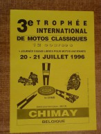 Circuit de Chimay - 3e TROPHEE INTERNATIONAL DE MOTOS CLASSIQUES 20-21 JUILLET 1996