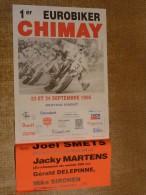 Circuit de Chimay - 1er EUROBIKER CHIMAY - 23 et 24 SEPTEMBRE 1995 - affichette noms de pilotes