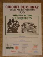Circuit de Chimay - GRAND PRIX DES FRONTIERES AUTOS ET MOTOS 17 et 18 septembre 1994
