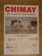 Circuit de Chimay - 63e GRAND PRIX DES FRONTIERES  21 et 22 mai 1994