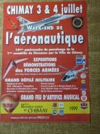 Chimay- Festivit�s - CHIMAY 3 & 4 JUILLET 1999 - WEEK-END DE L'AERONAUTIQUE