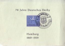 Deutsches Derby-1939-MI NR 698 1er jour