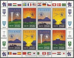 Islande 1995 773 - 776 ** Feuillet - Hand-ball - Hand-Ball