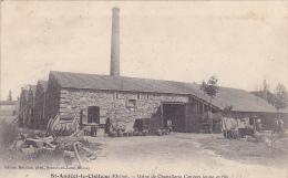 Cpa-69-saint Andeol Le Chateau--usine De Chapellerie Convers Jeune & Fils-edi Morillon - Autres Communes
