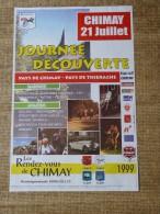 Chimay- Festivit�s - CHIMAY 21 JUILLET 1999 - JOURNEE DECOUVERTE  PAYS DE CHIMAY- PAYS DE THIERACHE