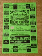 Chimay- Festivit�s -SAMEDI 5 AVRIL 97 - 15me  ANNIVERSAIRE DE RADIO CHIMAY