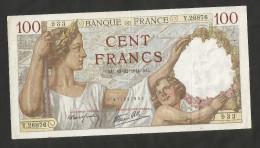 "FRANCE - BANQUE De FRANCE - 100 FRANCS ""SULLY"" (AU 18 . 12 . 1941) - 1871-1952 Antichi Franchi Circolanti Nel XX Secolo"