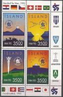 Islande 1995 773 - 776 ** En Bloc - Hand-ball - Hand-Ball