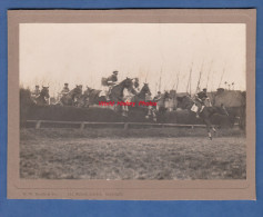 Photo Ancienne - LONDON - Course Hippique Aprés Guerre Entre Officiers Anglais Et Français - British Army Cavalry Horse - Guerre, Militaire