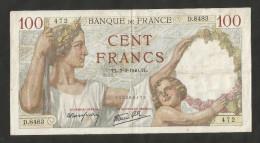 "FRANCE - BANQUE De FRANCE - 100 FRANCS ""SULLY"" (TL 7 . 3 . 1940) - 1871-1952 Antichi Franchi Circolanti Nel XX Secolo"