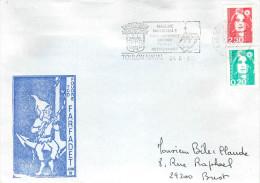 BATEAU TCD FOUDRE FARFADET JUIN 92 TOULON NAVAL  24/06/92 - Marcophilie (Lettres)