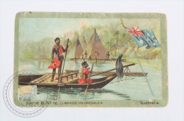 Old Die Cut Trading Card/ Chromo Topic/ Theme, Spanish Chocolate Juncosa -  Australia Flag & Universal Postal Servic - Chocolate