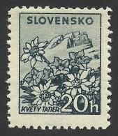 Slovakia, 20 H. 1940, Sc # 47, Mi # 73YA, MH
