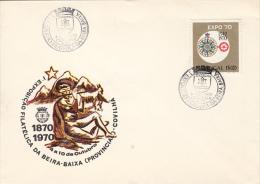 4395- BEIRA BAIZA PHILATELIC EXHIBITION, SPECIAL COVER, 1970, PORTUGAL - 1910-... République