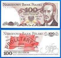 Pologne 100 Zlotych 1988 NEUF UNC Que Prix + Port Warynski Skrill Paypal Bitcoin OK - Pologne